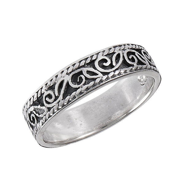 Leaf Design Ring | Sterling Silver 3 4 5 6 7 8 9 | Light Years Jewelry