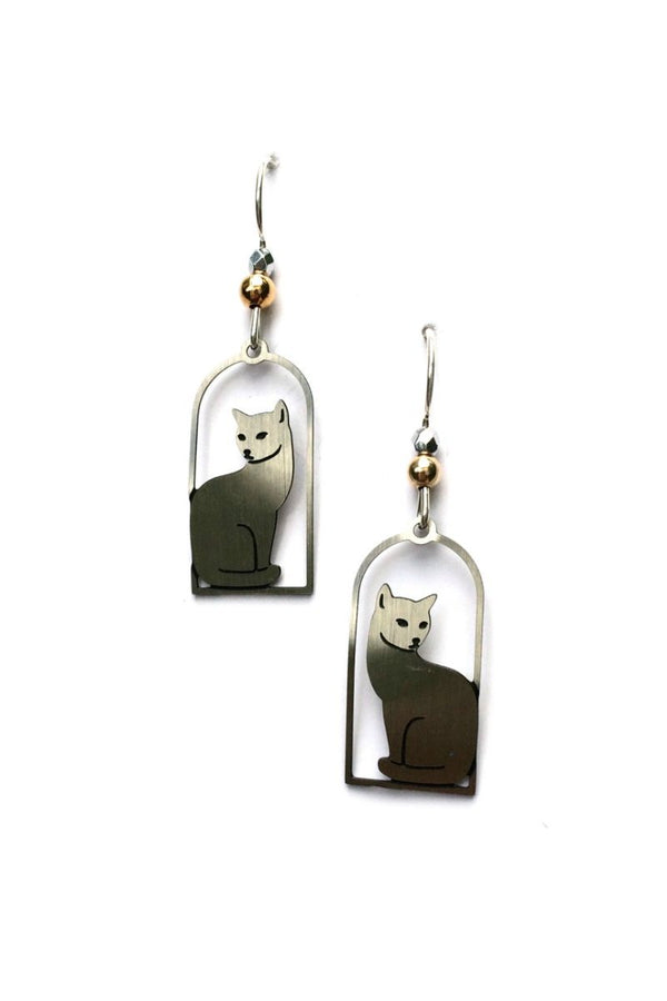 Cat Silhouette Dangles by Sienna Sky | Sterling Silver | Light Years