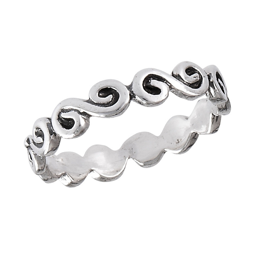 Celtic Swirl Ring | Sterling Silver Size 2-8  | Light Years Jewelry
