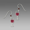 Red Wine Earrings by Sienna Sky, $16 | Sterling Silver Dangles USA | Light Years