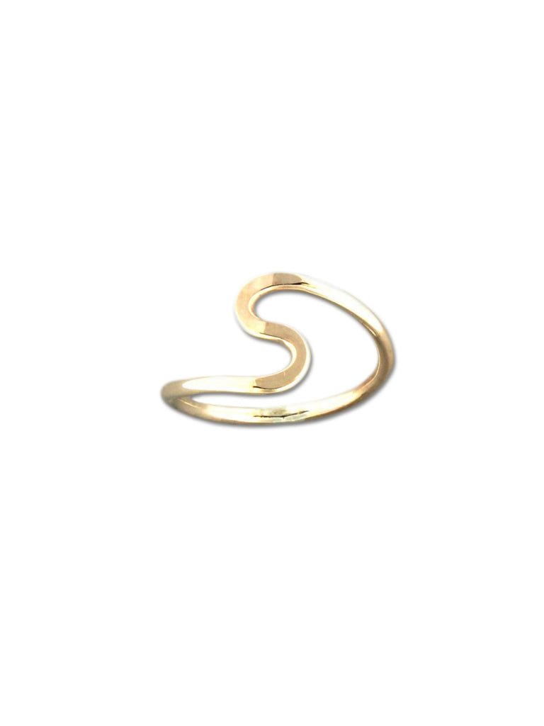 Solid S Wave Ring | 14k Gold Filled Band Size 6 7 8 9 10 | Light Years