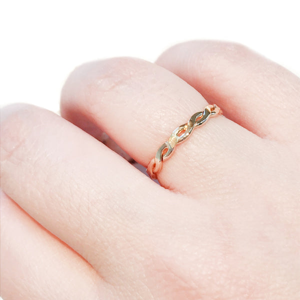 Thick Twisted Band | Gold Filled Ring Size 5 6 7 8 9 10 | Light Years
