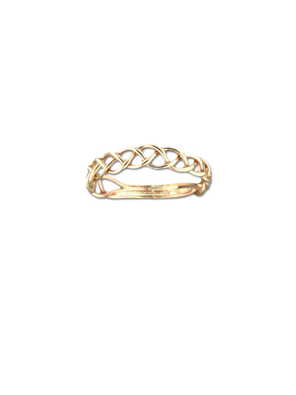 Handmade Braided Ring | 14kt Gold Filled Celtic Band | Light Years