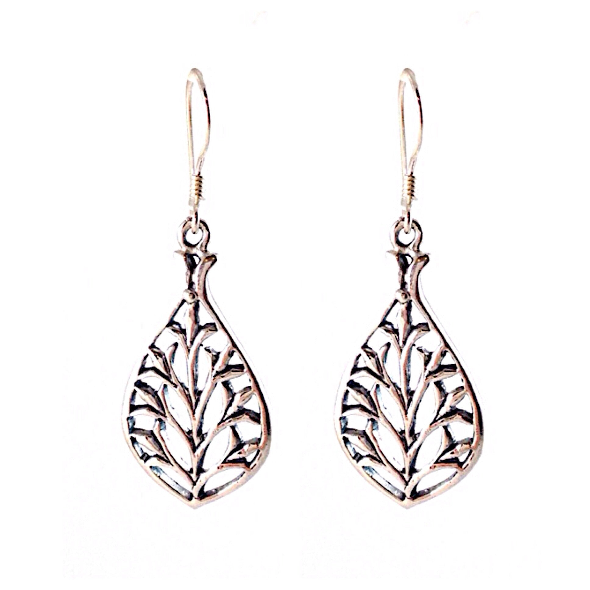 Teardrop Leaf Earrings, $19 | Sterling Silver | Light Years Jewelry