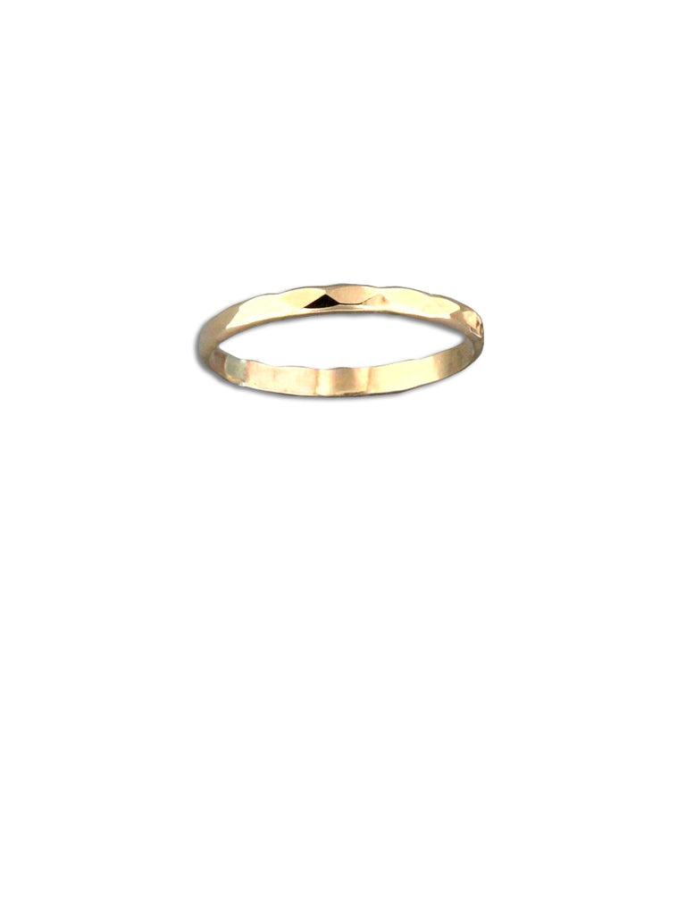Gold Filled Hammered Band Ring | Size 5 6 7 8 9 | Light Years Jewelry