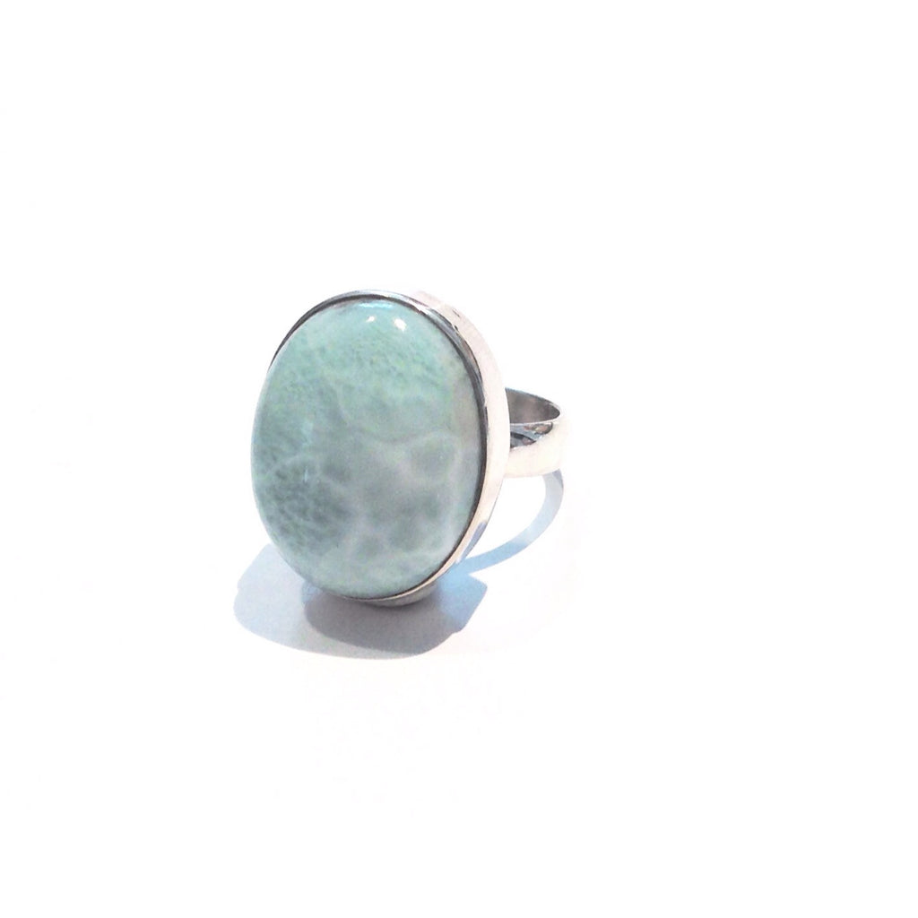 Large Larimar Ring, $52 | Sterling Silver Size 8 | Light Years Jewelry