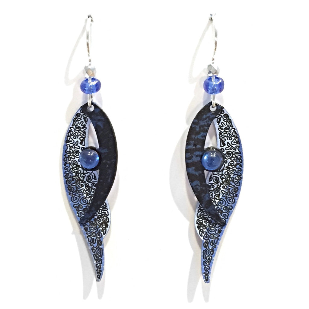 Blue Bird Wings Earrings by Adajio, $20 | Light Years Jewelry