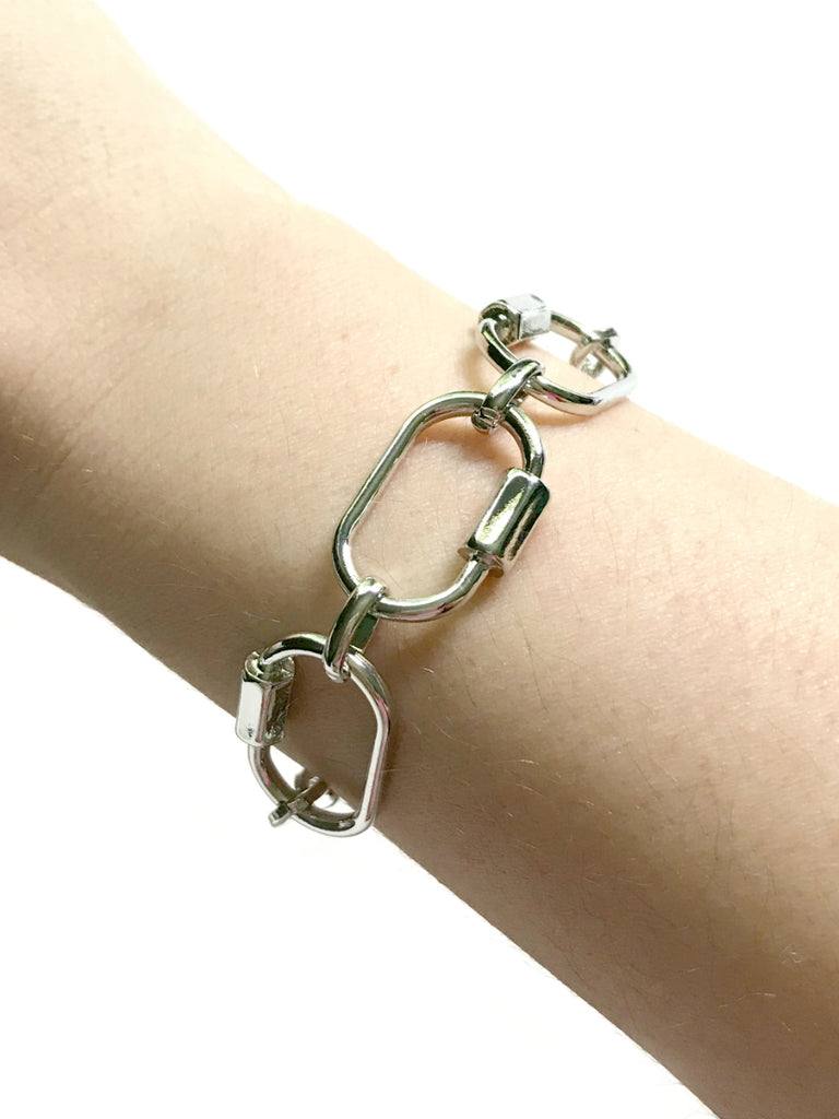 Locked Chain Link Bracelet | Silver Fashion Jewelry | Light Years