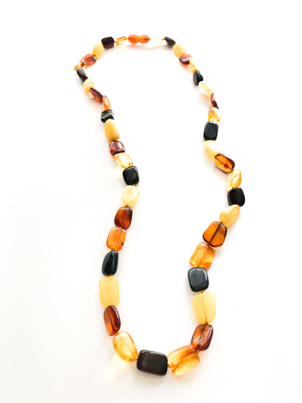 Beaded Baltic Amber Necklace | Honey Cherry Beads Poland | Light Years