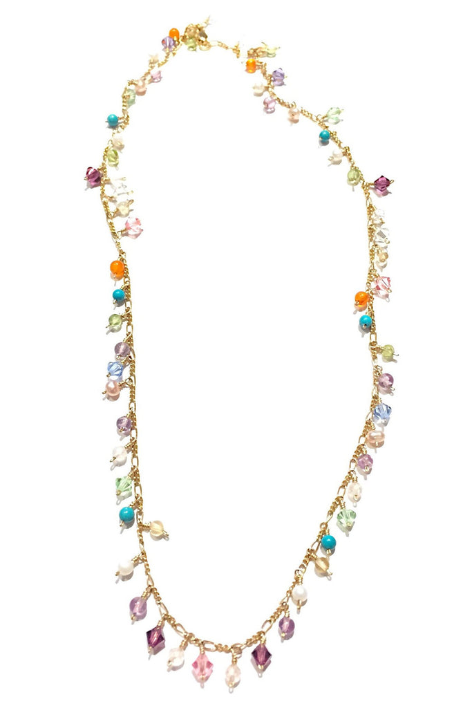 Handmade Mixed Stone and Crystal 14kt Gold-Filled Necklace, $52 | Light Years Jewelry
