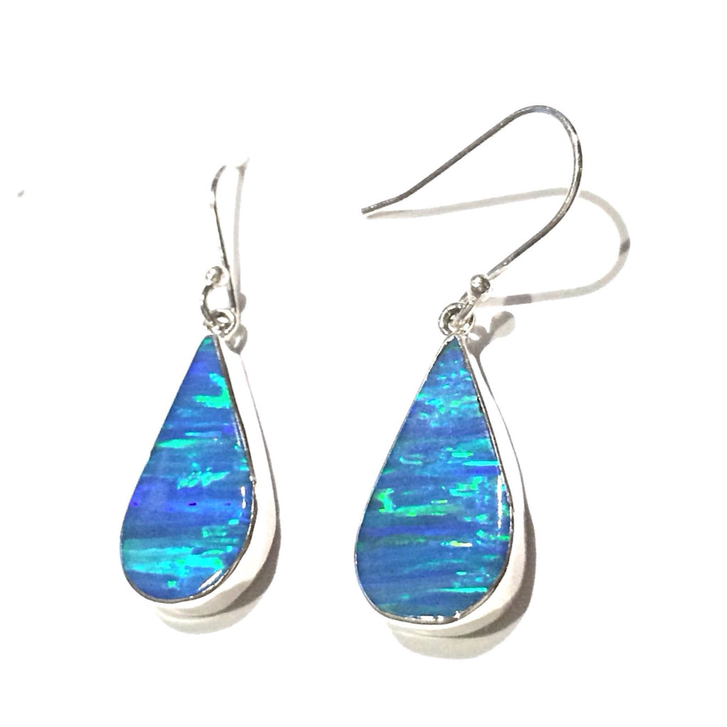 Blue Opal Drop, $46 | Sterling Silver Earrings | Light Years Jewelry