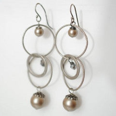 Windsor Castle Circle and Pearl Dangle Earrings, $26 | Light Years