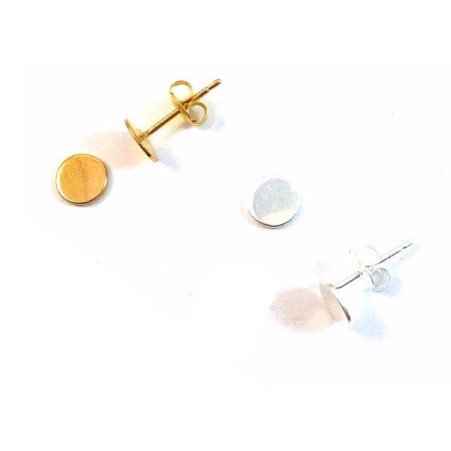 Solid Circle Posts, $11 | Gold and Silver Stud Earrings | Light Years