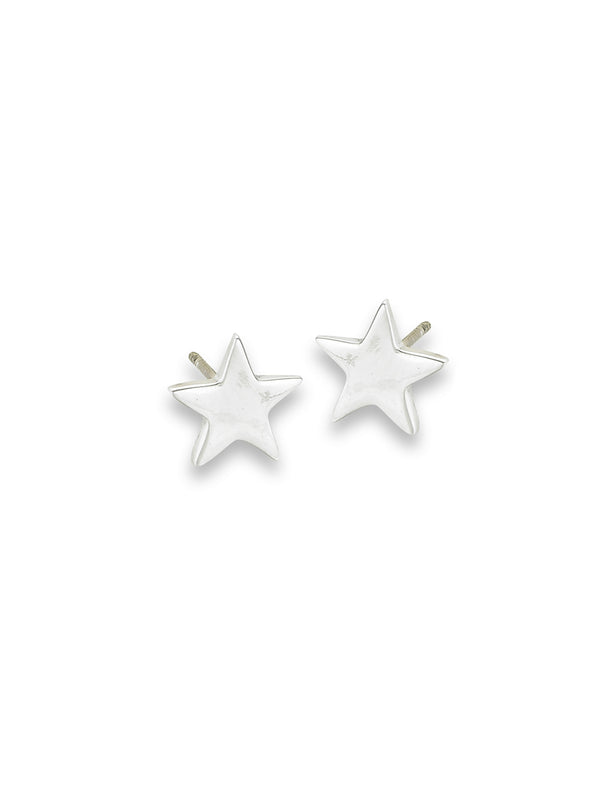 Polished Star Posts | Sterling Silver Studs Earrings | Light Years