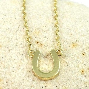Horseshoe Necklace, $22 | Gold Plated | Light Years Jewelry