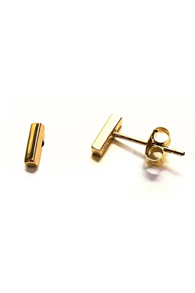 Mini Gold Vermeil Bar Posts, $10 | Stud Earrings | Light Years Jewelry