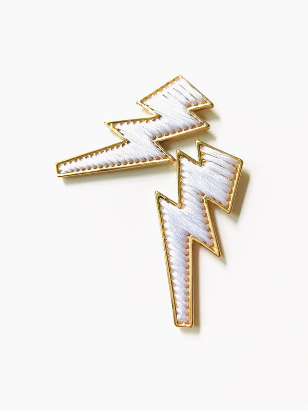 Wrapped Lightning Bolt Posts | Celestial Studs Earrings | Light Years
