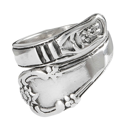 Classic Spoon Ring | Sterling Silver Sizes 7 8 9 | Light Years Jewelry