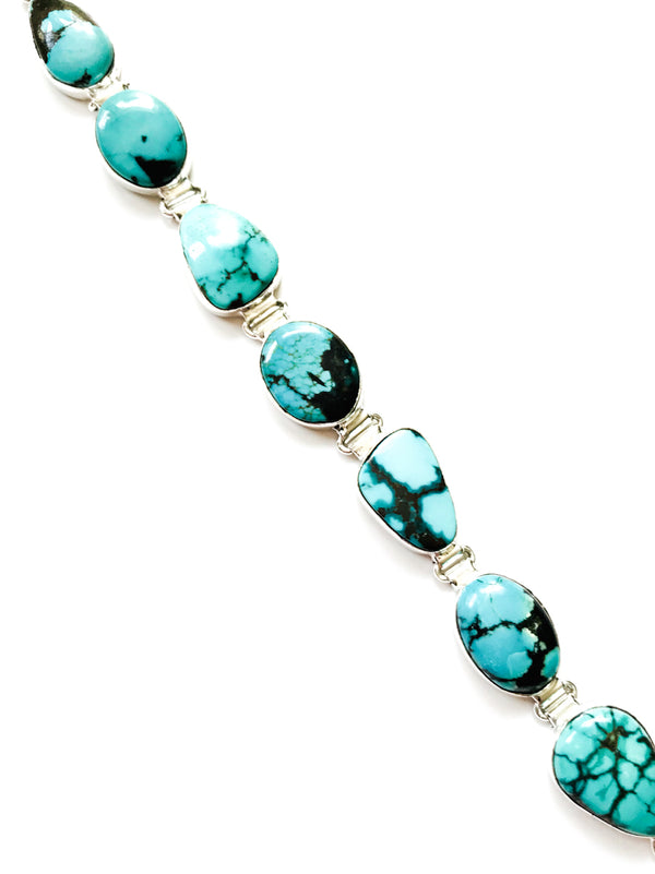 Classic Turquoise Bracelet | Sterling Silver | Light Years Jewelry