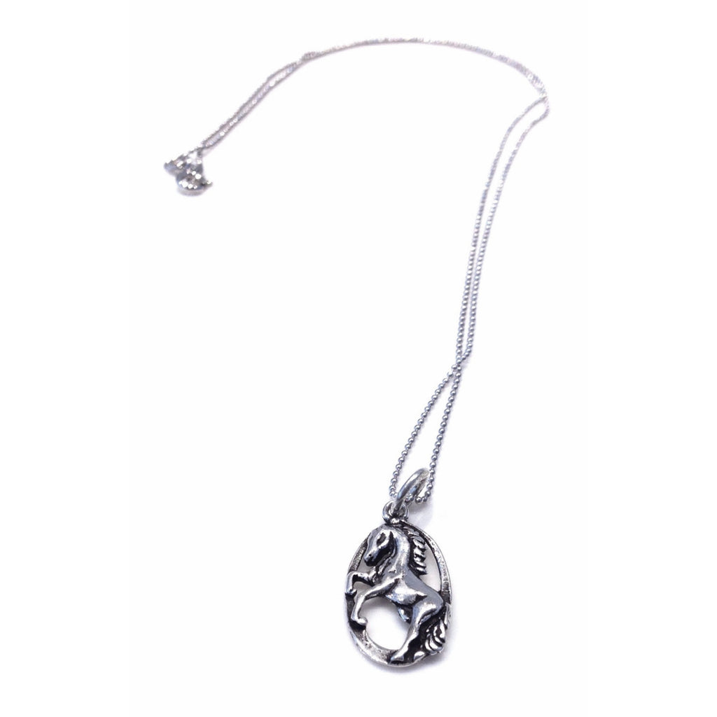 Dancing Horse Pendant and Chain, $29 | Sterling Silver Necklace | Light Years Jewelry