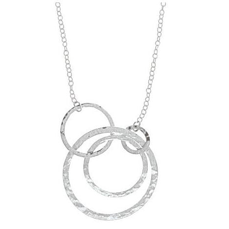 Four Circles Necklace, $39 | Sterling Silver | Light Years Jewelry