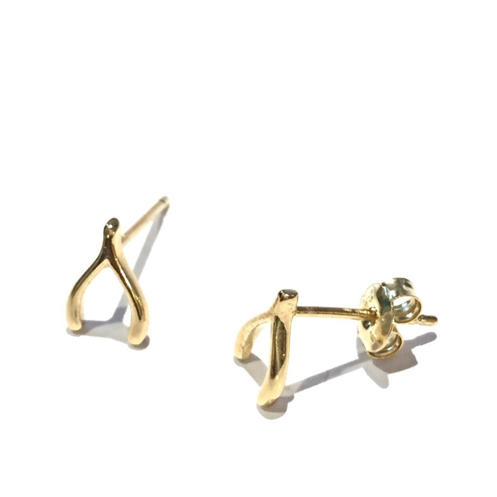 Gold Vermeil Wishbone Posts, $10 | Stud Earrings | Light Years Jewelry