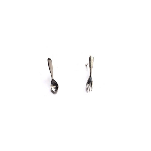 Spoon And Fork Posts | Sterling Silver Stud Earrings | Light Years
