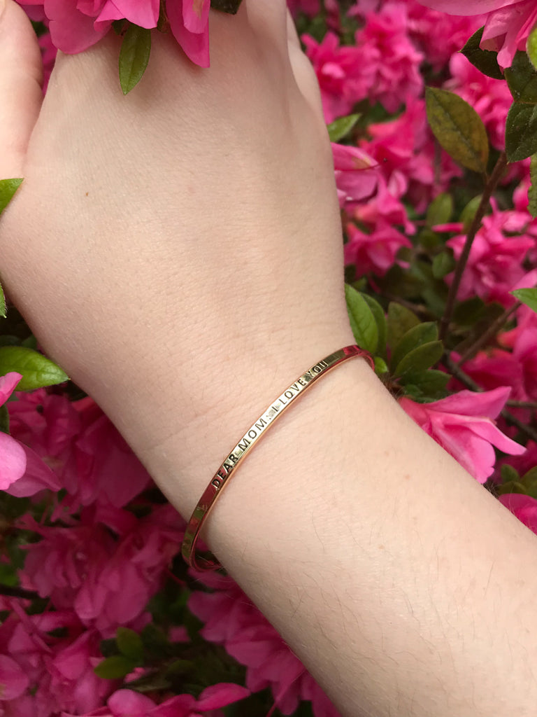 """Dear Mom, I Love You"" Bracelet 