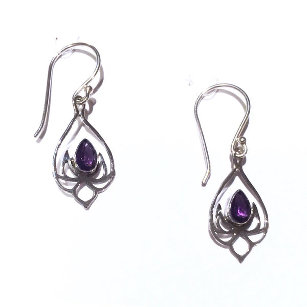 Amethyst Lotus Blossom Earrings, $25 | Sterling Silver | Light Years