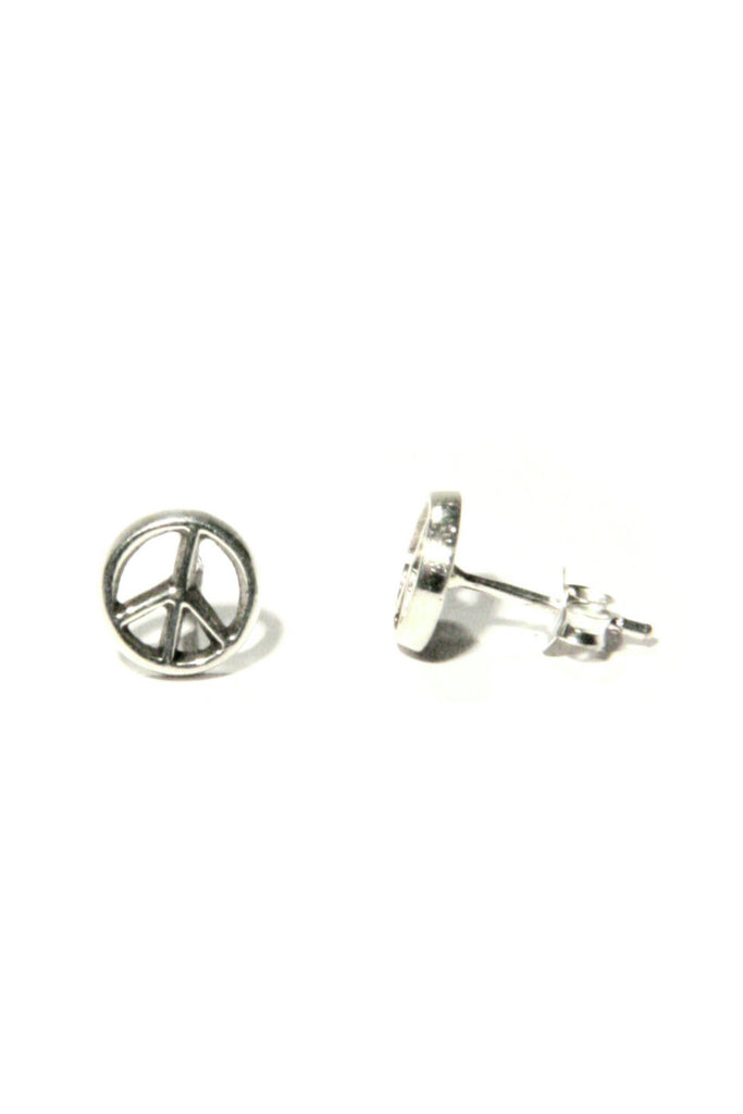 Peace Sign Posts, $11 | Sterling Silver Studs | Light Years Jewelry