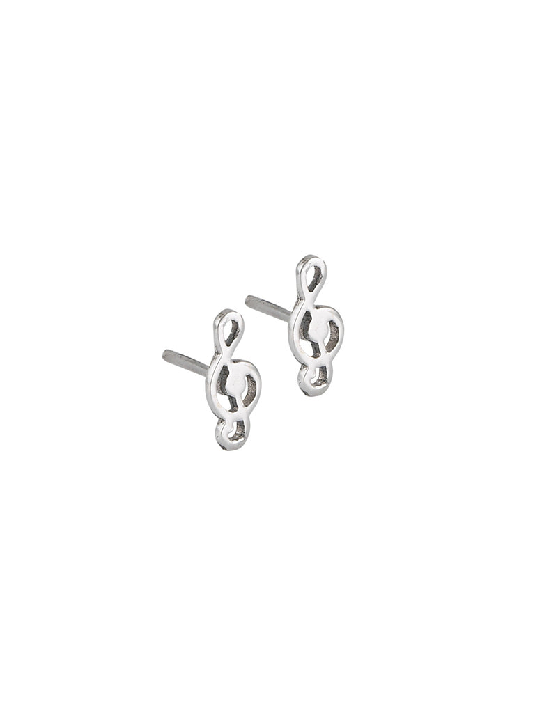 Treble Clef Posts | Sterling Silver Studs Earrings | Light Years Jewelry