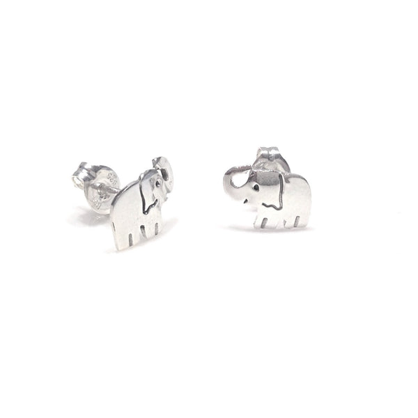 Silver Elephant Posts, $15 | Sterling Silver Stud Earrings | Light Years Jewelry