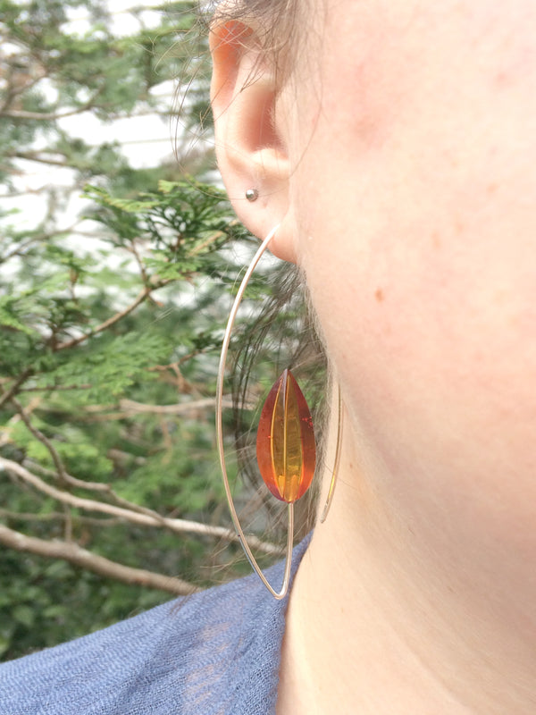 Modern Amber Statement Earrings