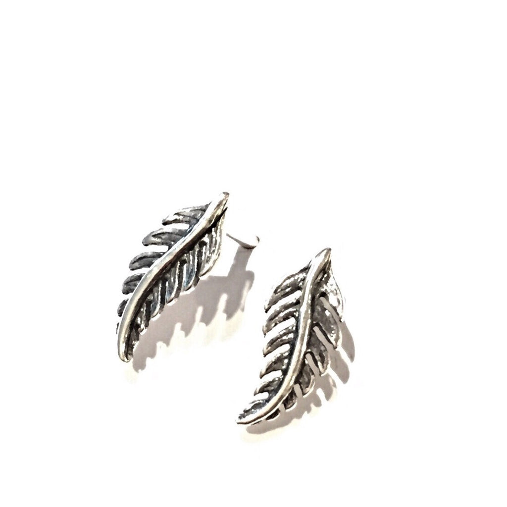 Fern Posts, $9 | Sterling Silver Stud Earrings | Light Years Jewelry