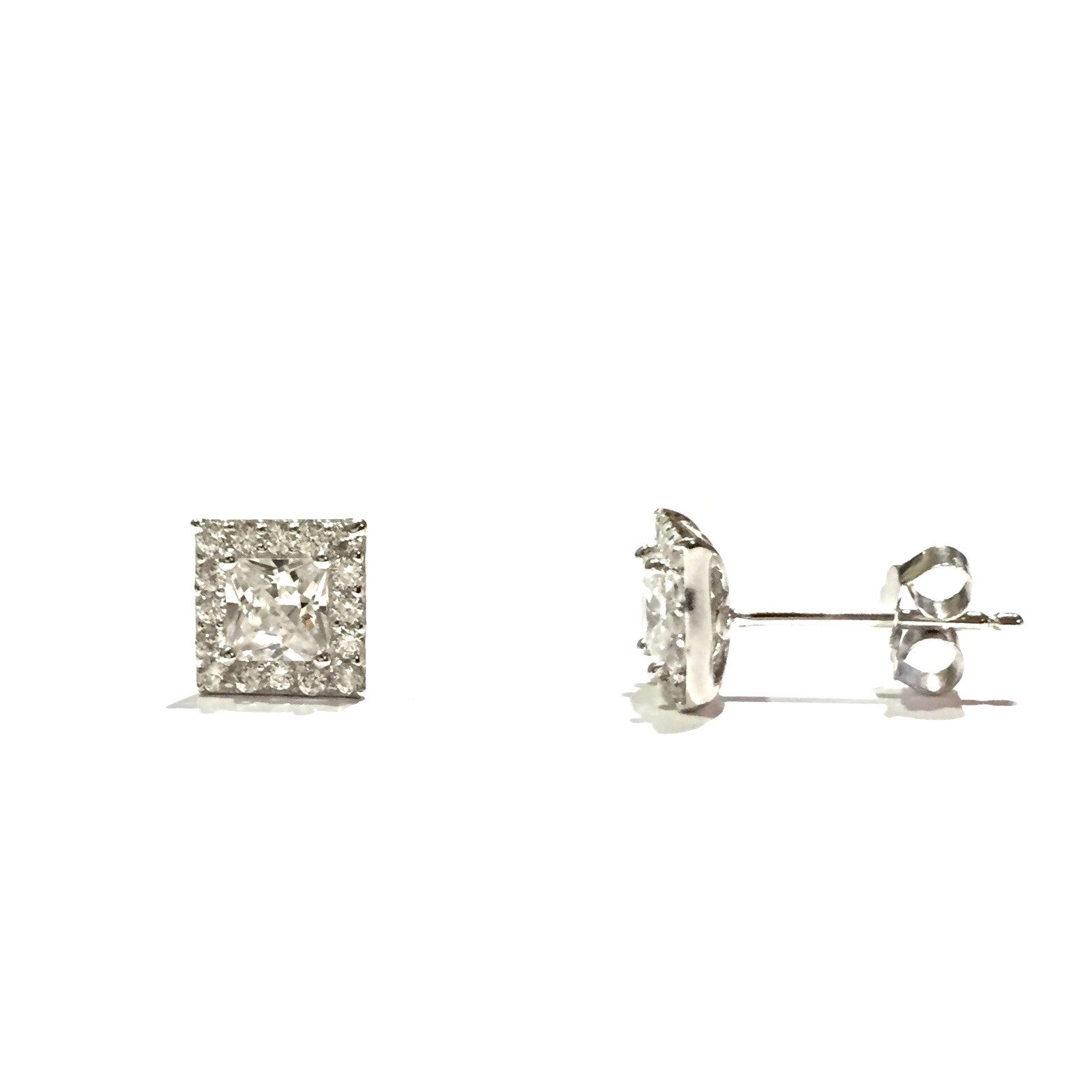 CZ Square Posts, $14 | Sterling Silver | Light Years Jewelry
