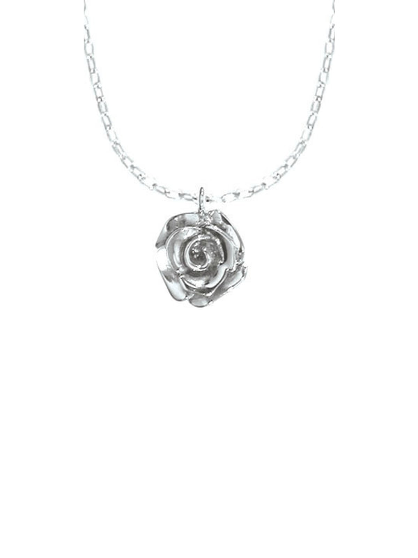 Blooming Rose Necklace | Sterling Silver Chain Pendant | Light Years
