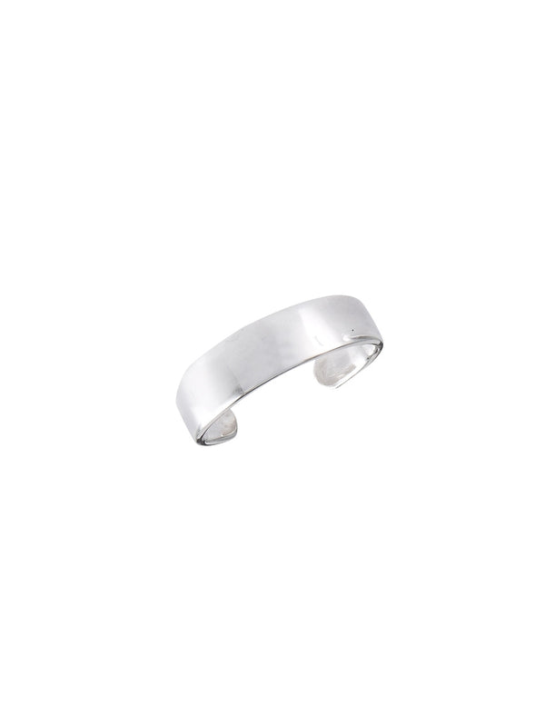 Simple Flat Band Adjustable Toe Ring | Sterling Silver | Light Years