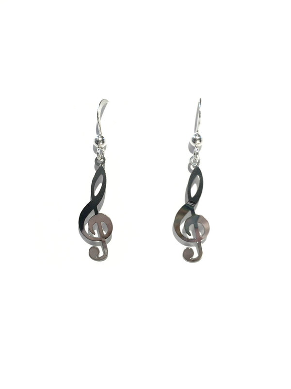 Treble Clef Earrings by Sienna Sky | Sterling Silver | Light Years