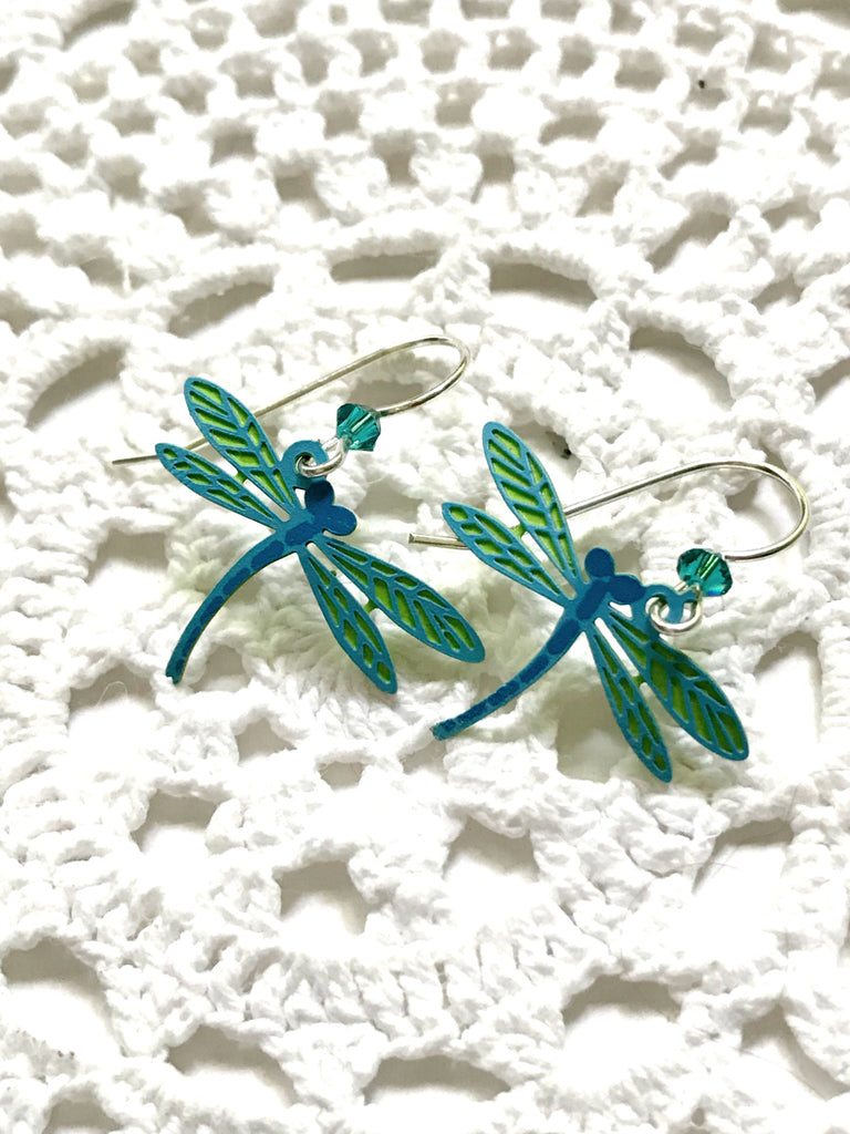 Blue Dragonfly Dangles Sienna Sky | Sterling Silver Earrings | Light Years