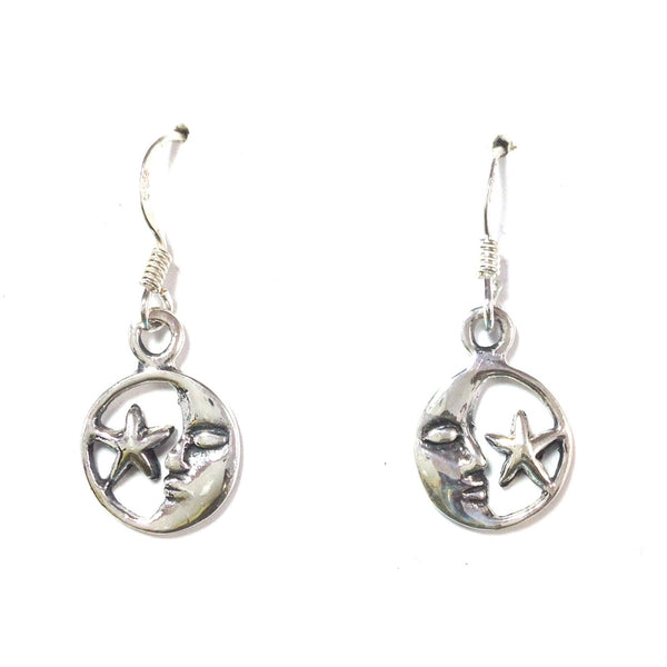 Moon And Star Dangles, $12 | Sterling Silver Earrings | Light Years