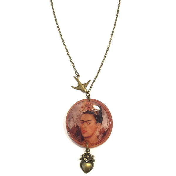 Beijo Brasil Frida Kahlo Necklace, $28 | Handmade | Light Years Jewelry