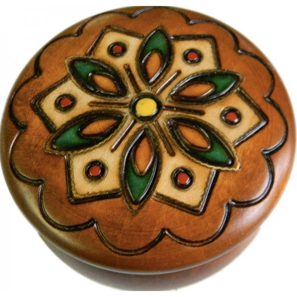 Round Flower Wooden Box | Handmade in Poland | Light Years Jewelry