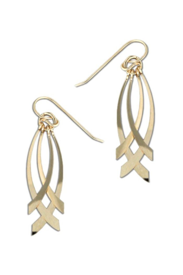 Comet Tail Dangles, $21 | Sterling Silver Gold Fill | Light Years Jewelry