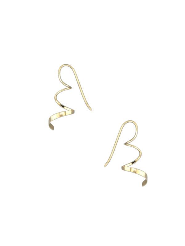 Ribbon Twist Earrings | 14kt Gold Filled Dangles USA | Light Years
