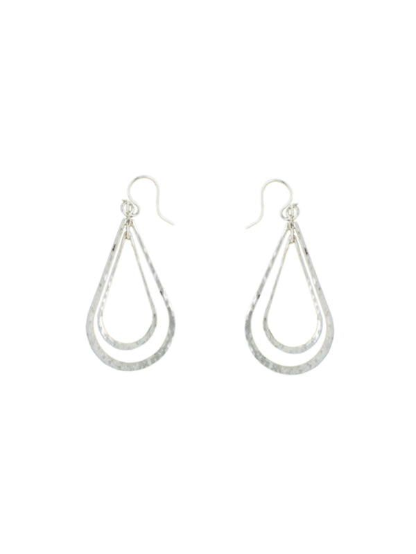 Hammered Teardrop Statement Earrings | Sterling Silver | Light Years