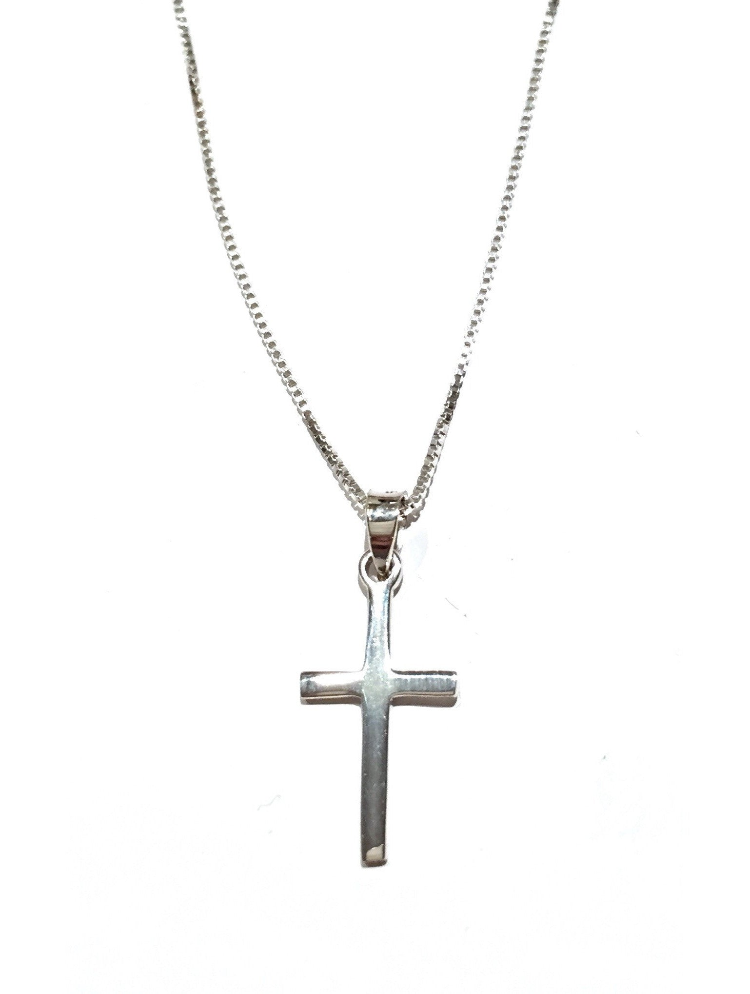 Simple Cross Pendant and Chain, $17 | Sterling Silver ...