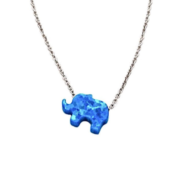 Opal Elephant Necklace, $22 | Sterling Silver | Light Years Jewelry