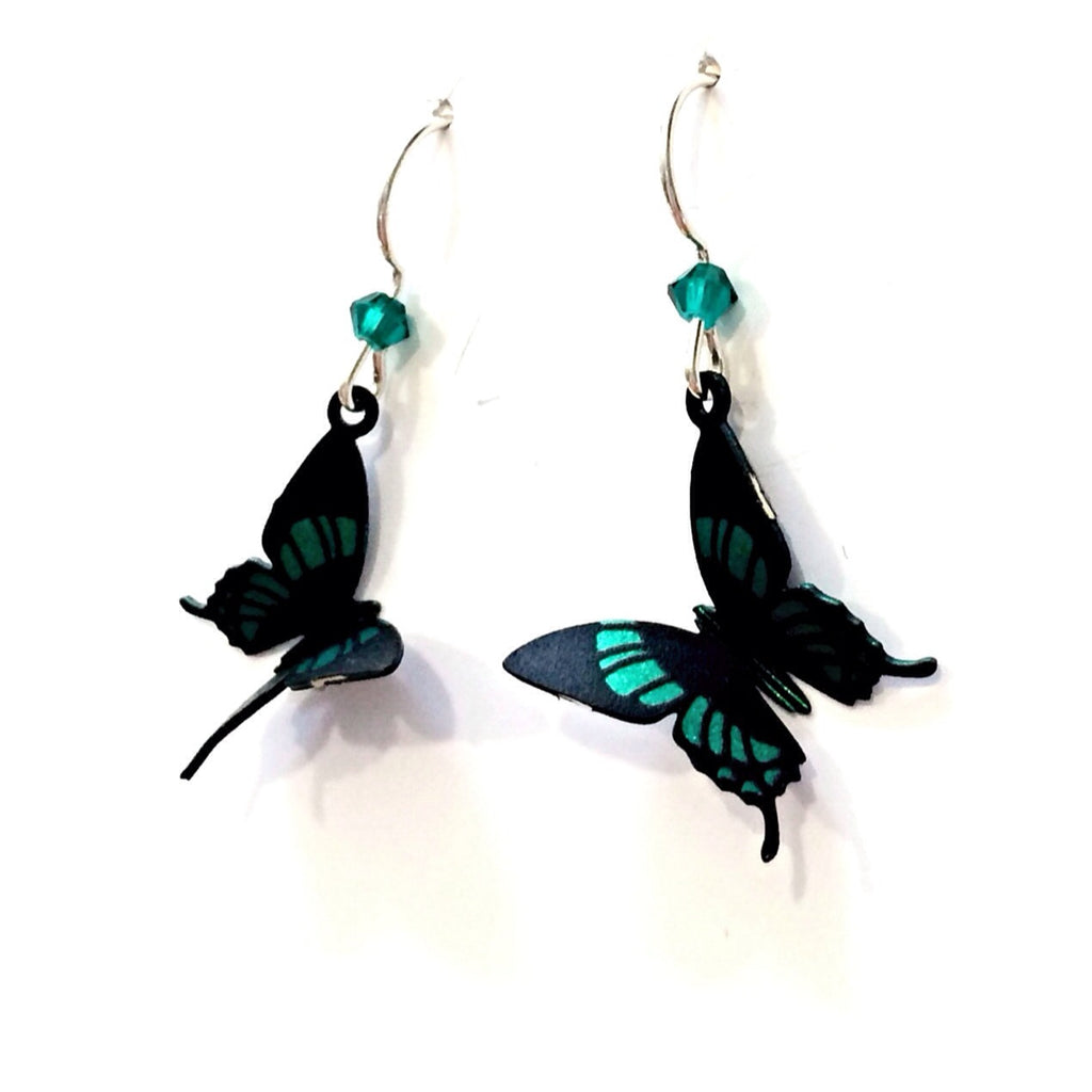 Green Butterfly Earrings, $15 | Sterling Silver | Light Years Jewelry