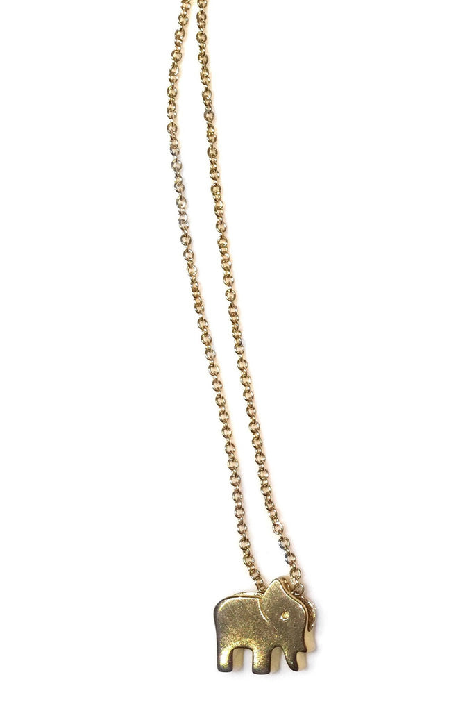 Standing Elephant Necklace, $19 | Gold Vermeil | Light Years Jewelry