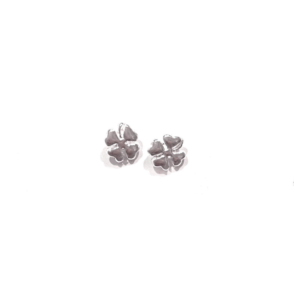 Silver 4-Leaf Clover Posts, $9 | Sterling Stud Earrings | Light Years